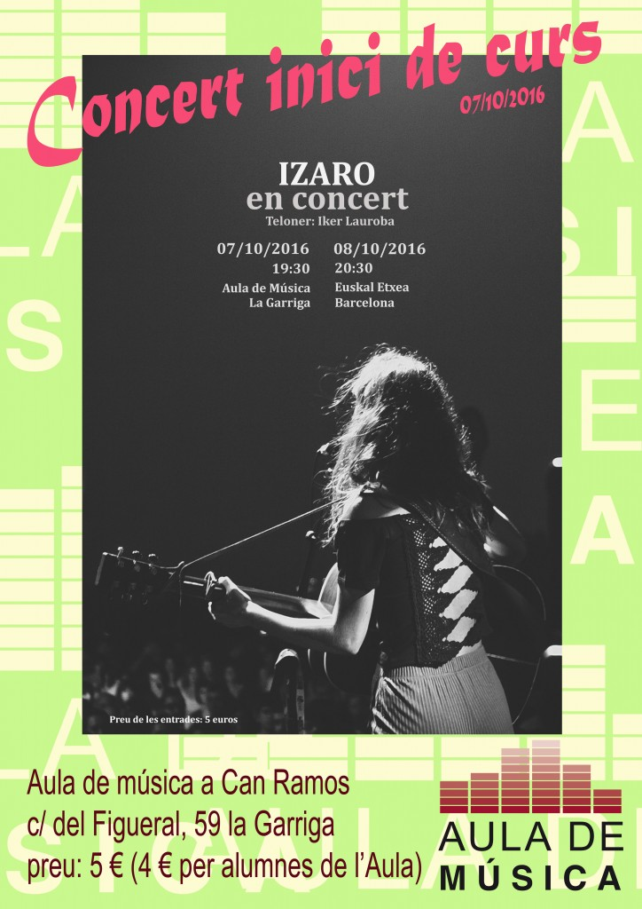 cartell Izaro aula